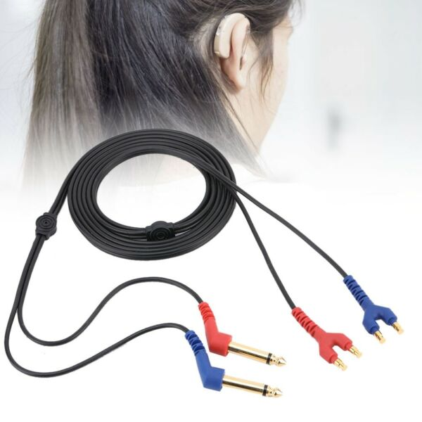 2m Headset Cable Wire for Headphone Air Conduction Audiometer Hearing Tester