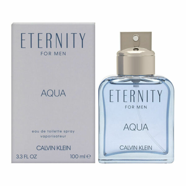 Eternity Aqua by Calvin Klein for Men 3.4 oz EDT Spray Brand New