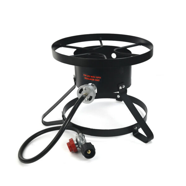 High Pressure Burner Outdoors Cooking Gas Single Propane Stove Hose amp; Regulator