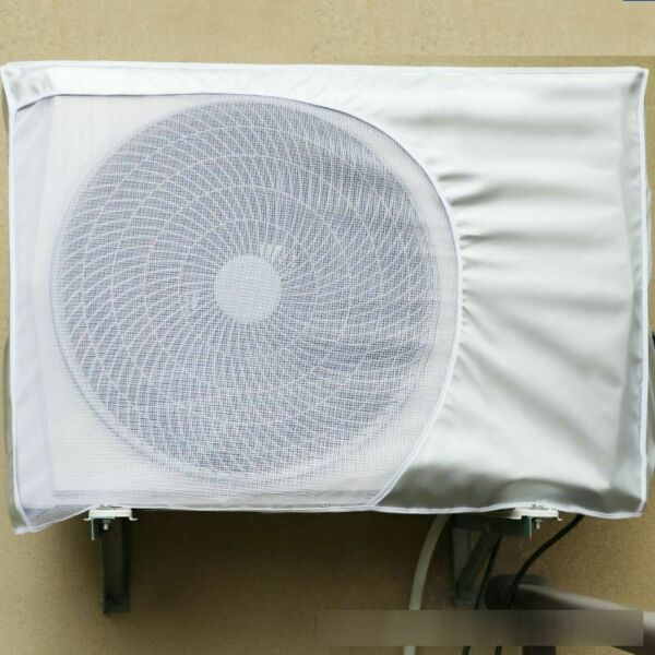 Air Conditioner Cover Outside Anti-Snow Waterproof Protection Case Silver Fabric