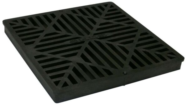 NDS 1211G 12 Inch Square Grate Black 12 x 12 Inch