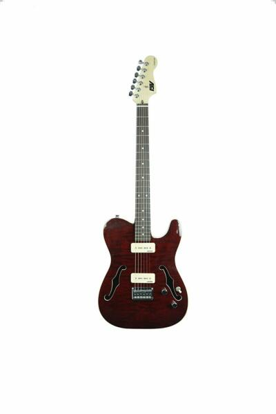 ivy ITF-400 TRD PRS Solid-Body Electric Guitar, Trans Red