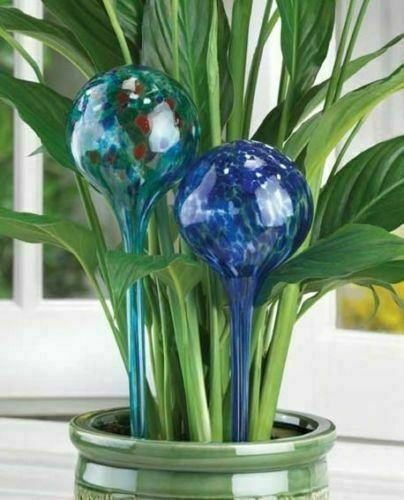 4PC Glass Globes Plant Watering Automatic Watering Ball Bulbs Garden Tools US