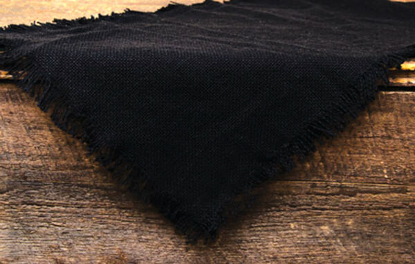 Primitive 100% Soft Cotton BLACK Burlap Table Runner 13quot; x 36quot;