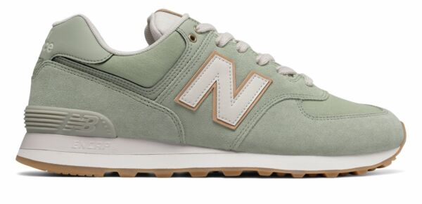 New Balance Men's 574 Natural Outdoor Shoes Green With Grey 15 D