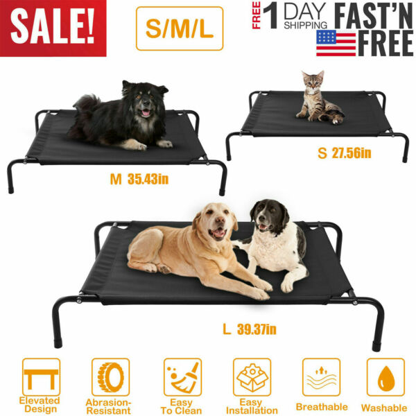 Elevated Dog Bed Lounger Sleep Pet Cat Raised Cot Hammock for Indoor Outdoor US $31.99