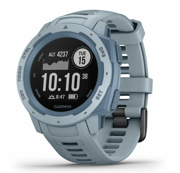 Garmin Instinct Rugged GPS Outdoor Watch - Sea Foam (OPEN BOX)