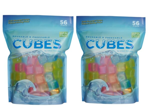 Pack of 112 Reusable Plastic Ice Cubes BPA FREE Resealable Bag For Easy Storage $19.95