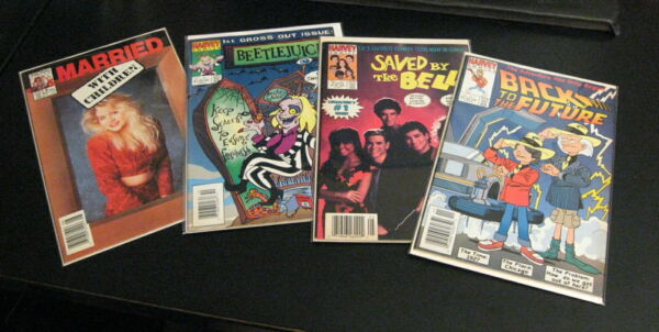 5 HTF TV Movie Comics Harvey: Saved Bell•Back Future•BeetleJ 2 Married Childr. $34.95