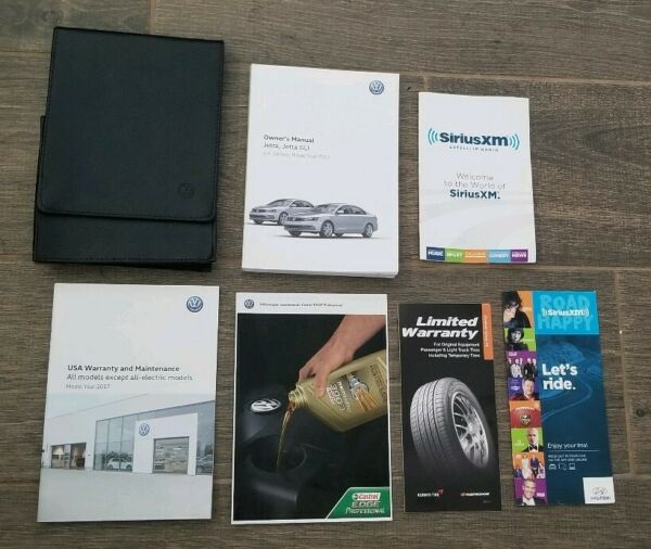 17 2017 Volkswagen Jetta GLI  Jetta owners Manual in VW CASE.  *** LIKE NEW ***
