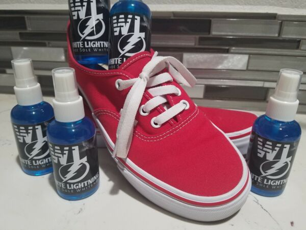 White Lightning (FAST ACTING) Shoe Sole Cleaner Strongest Cleaner on The Market