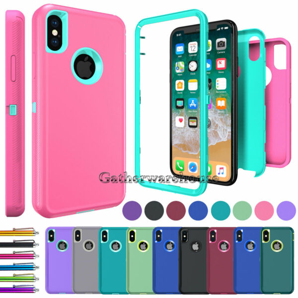 Case For iPhone 8 7 6s 6 Plus Xr Xs 11 Pro Max Full Body Shockproof Heavy Cover $7.45