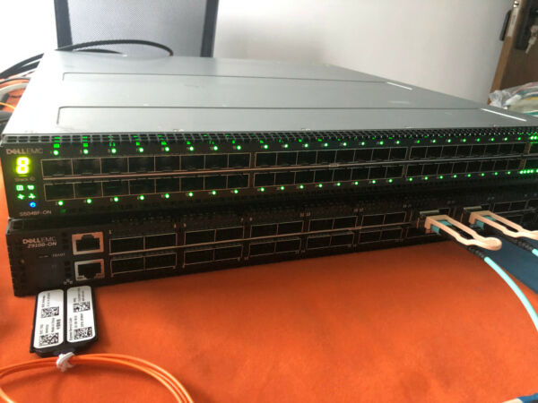 Dell EMC S5048F-ON  48-Port 1025GbE 6-Port 40100GbE Switch  with 2x AC Power