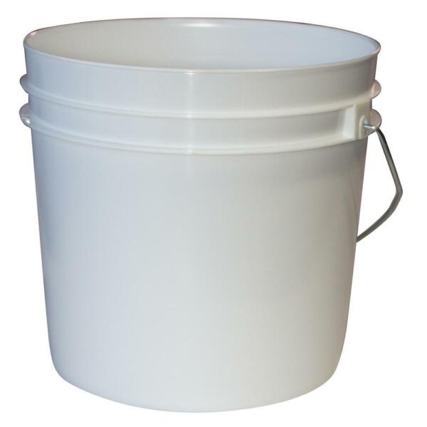 WHITE PAINT BUCKET 1-Gallon Plastic Pail Durable Heavy Duty Metal Handle 10-PACK