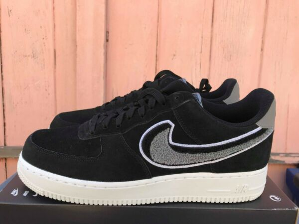 NEW Nike Air Force 1 '07 LV8 [823511-014] Size 10.5 Shoes Black/White-Cool Grey
