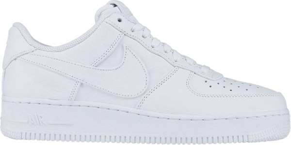DS Nike Air Force 1 One Shoes Oversized Swoosh Triple White AT4143-103 Men's 8.5