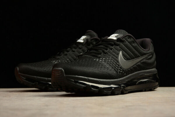 NIKE AIR MAX 2017 Men's Black No. 2 Running Athletic Sport Classic Gym Sneakers