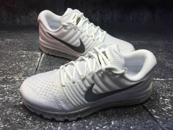 NIKE AIR MAX 2017 Men's White Running Athletic Sport Classic Gym Sneakers