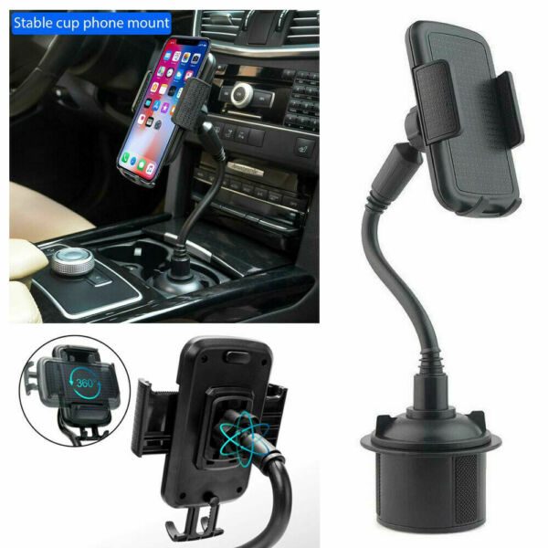Universal Car Mount Adjustable Gooseneck Cup Holder Cradle for Cell Phone iPhone $8.59