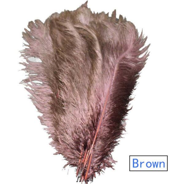 50100pcs Brown Ostrich Feathers for Wedding Party Centerpieces Home Decorations