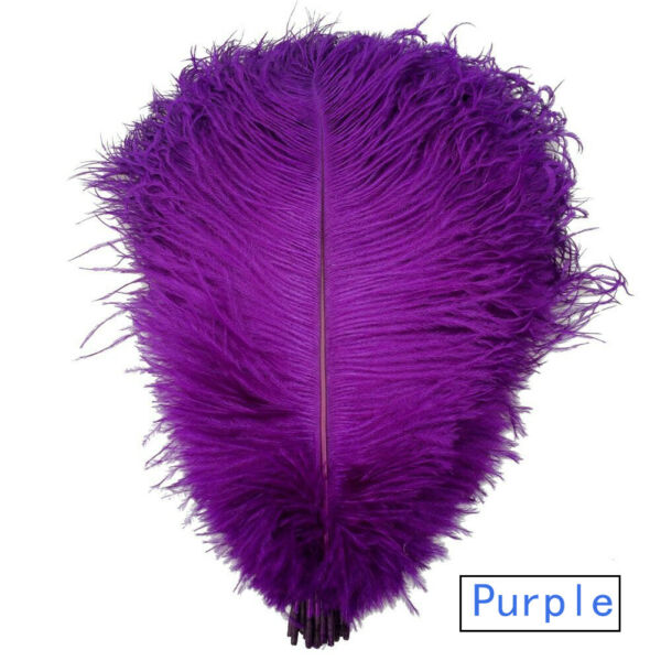Purple Ostrich Feathers for Wedding Party Centerpieces Home Decorations