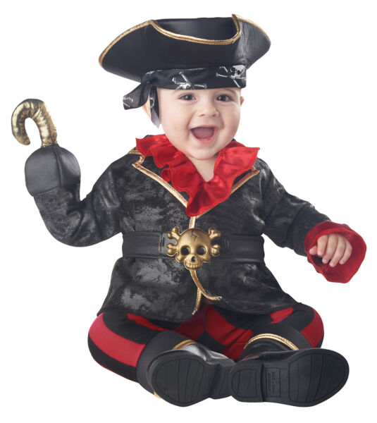 California Costumes Pirate Of The Crib Ian Infant Costume Black Red 6 12Mo $35.99
