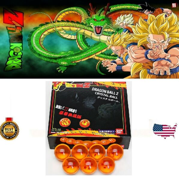 New 7Pcs Stars Dragon Ball Z Crystal Balls Set Collection Set Gifts with BOX