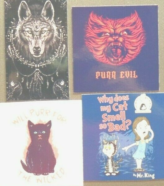 Grey Wolf spike Purr Cat Evil Wicked Black Smell Bad Dead zombie claw magnet 302 $11.39