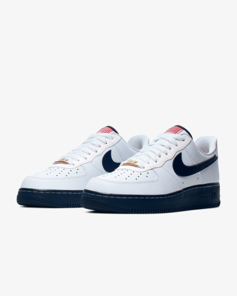 Nike Air Force 1 One Low White Sport Red Metallic Gold CK5718-100 FIBA Size 8-13