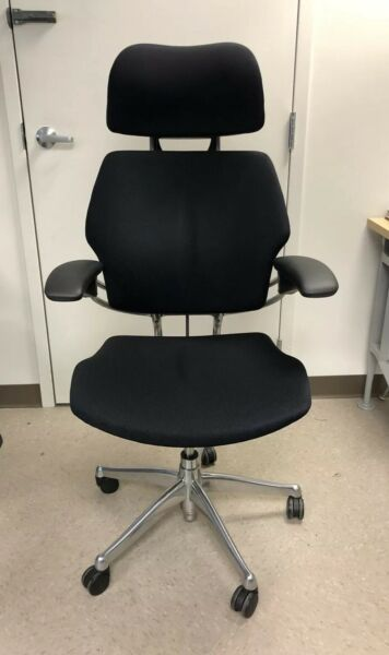Humanscale Freedom Task Chair with Headrest Advanced Arm Polished Aluminum Frame