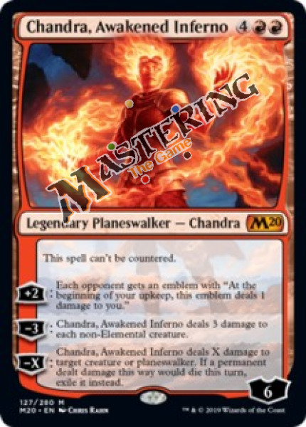 1x Chandra Awakened Inferno M20 Core Set 2020 MtG MasteringtheGame 4x Avail