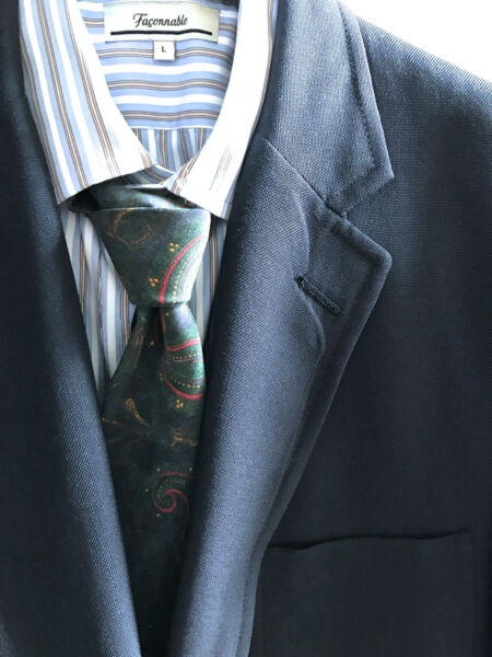 BROOKS BROTHERS CLASSIC MENS HOPSACK BLAZER Sack 3 2roll SportJacket WOOLPOLY 45 $75.00