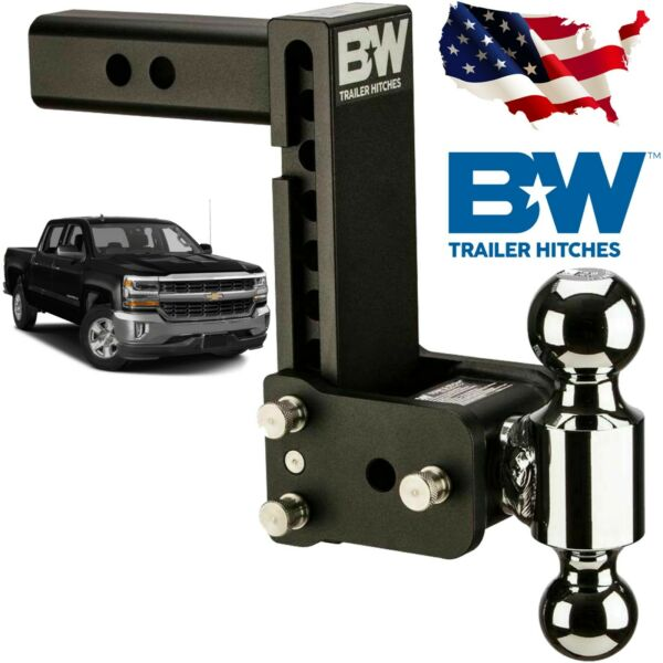 Bamp;W TS10040B Tow and Stow Hitch Ball Mount Fits 7quot; Drop 7 1 2quot; Rise Dual Ball