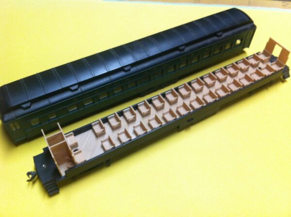 LOT OF 2 HO SCALE COACH INTERIORS FOR ATHEARN HEAVYWEIGHT PASSENGER CARS