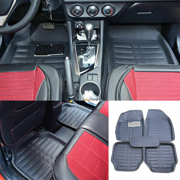 Auto Floor Mats for Rubber Liners Black Heavy Duty All Weather for Car 5pc Set $39.99