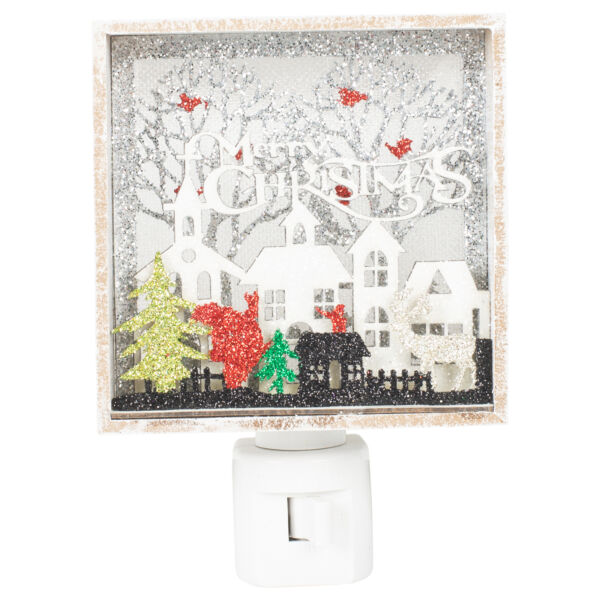 Merry Christmas Papercut Wall Swivel Plug in Bubble Night Light $24.88