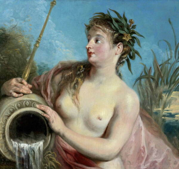 Antoine Watteau Nymph Fontana Poster Reproduction Paintings Giclee Canvas Print