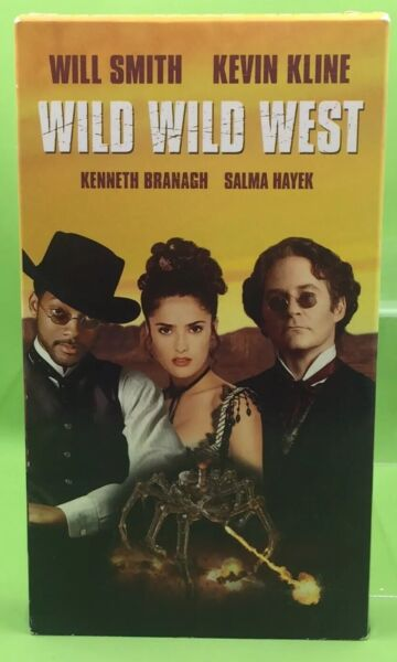 WILD WILD WEST VHS 1999 Will Smith Kevin Kline Kenneth Branagh Salma Hayek