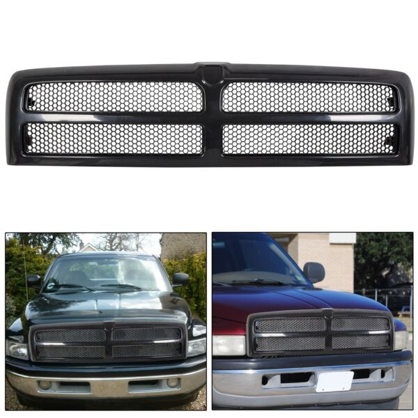 New Front Bumper Hood Grille For 1994-2002 Dodge Ram 1500 2500 3500 CH1200188