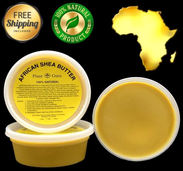 Raw African Shea Butter YELLOW 8 oz Unrefined Pure Organic 100% Natural Ghana