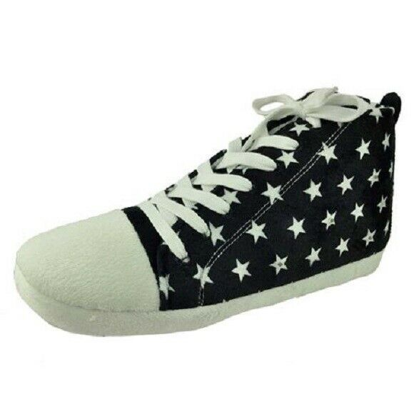 GEORGE MEN#x27;S LIGHT UP HIGH TOP SLIPPERS BLACK *CHECK FOR SIZE