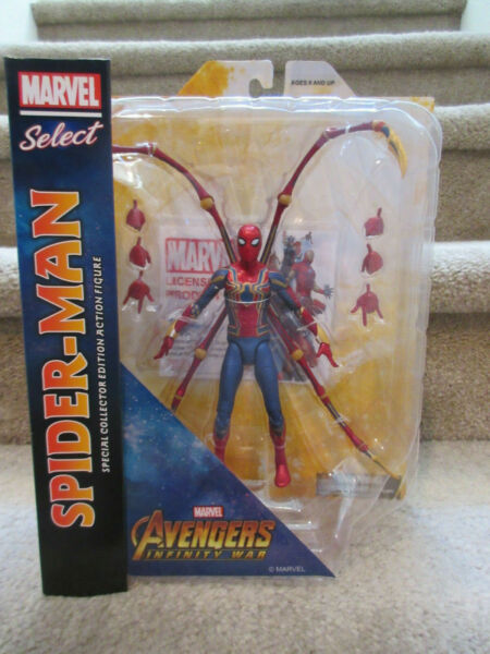 Spider Man Iron Spider Marvel Select Avengers Infinity War 7