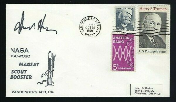 Donald Hearth signed cover Director NASA Langley Research Center