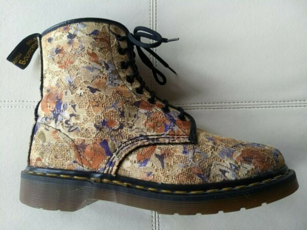 DOC DR. MARTENS LACE & BURLAP BOOTS MADE IN ENGLAND RARE VINTAGE SIZE 7UK US: W9