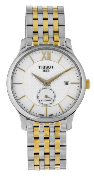 Tissot Tradition Automatic SM Second Two Tone Men's Watch T0634282203800