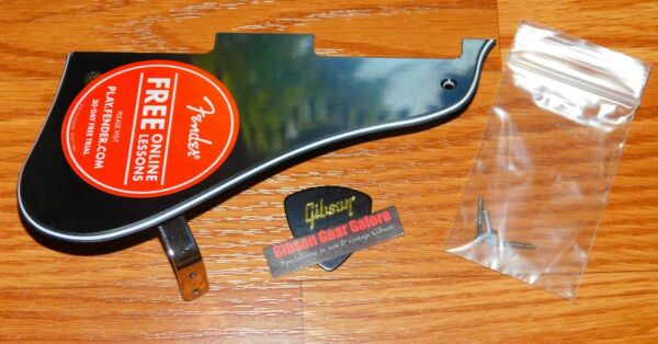Fender Starcaster Pickguard Modern Player 3 Ply Black Guitar Parts Bracket Screw