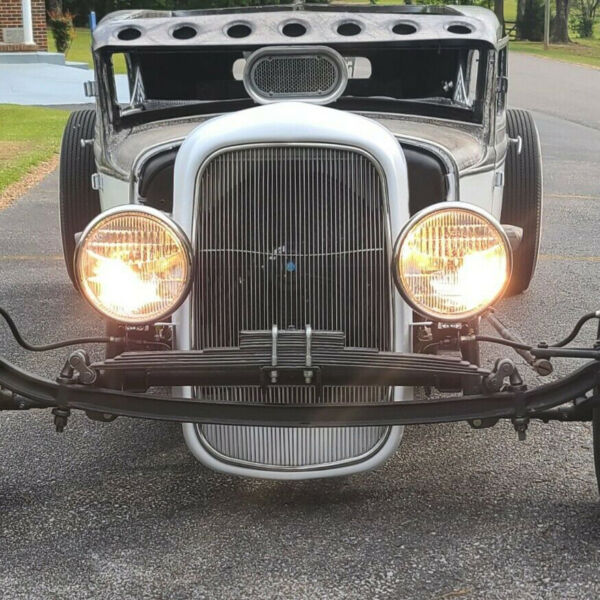 For 1932 Model B BB 18 Stamped Steel Front Grille ShellStainless Grill Insert