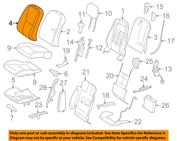 MERCEDES OEM 11-14 CL600 Driver Seat-Seat Back Cover 21691033478M42