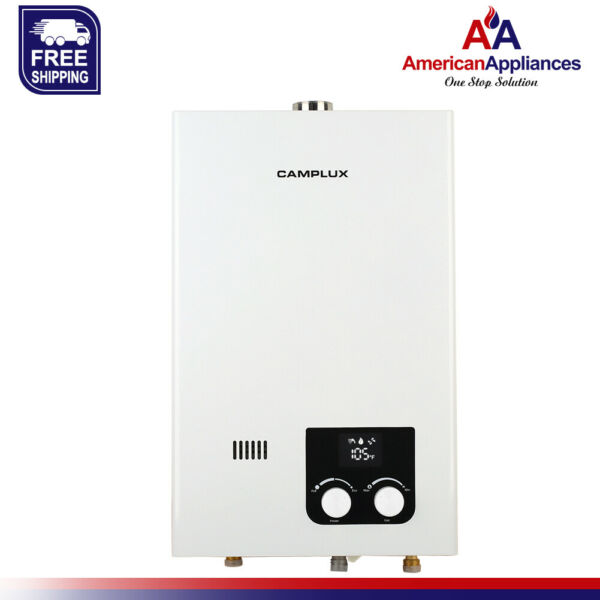 Camplux 10L 2.64 GPM High Capacity Tankless Natural Gas Residential Water Heater $308.99
