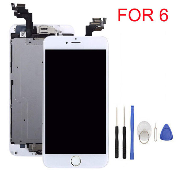 Full Set LCD Touch Screen Digitizer Assembly Replacement for iPhone 6 5S +Tools